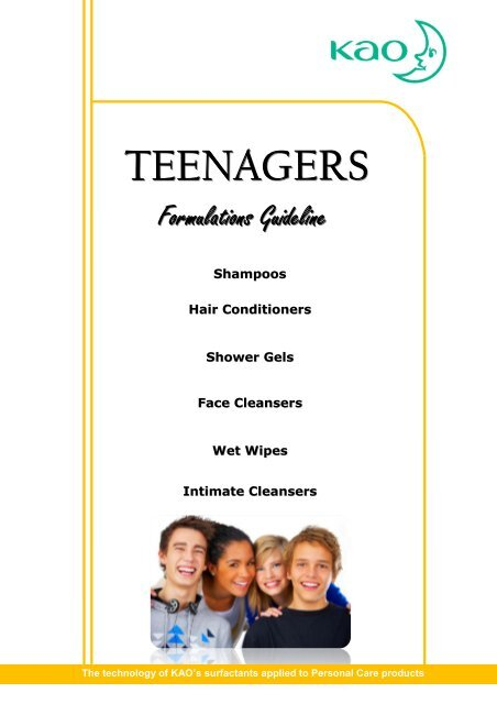 Teenagers guideline formulations - Kao Chemicals Europe