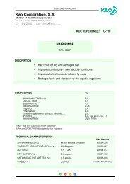 amyl cinnamic aldehyde - Kao Chemicals Europe