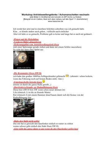 Achsmanschetten wechseln - KC! Kaos Crew...www.kaoscrew.de...