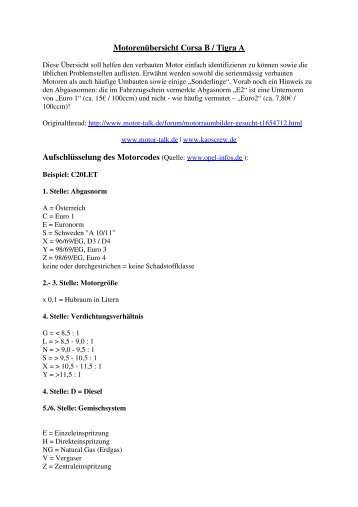 Motorräume - KC! Kaos Crew...www.kaoscrew.de...