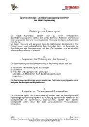 Sportförderungs - Stadtgemeinde Kapfenberg
