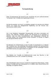 Turnsaalordnung - Stadtgemeinde Kapfenberg