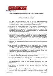 Platz- und Betriebsordnung für das Franz Fekete Stadion
