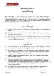 Hundeabgabeordnung der Stadt Kapfenberg - Stadtgemeinde ...
