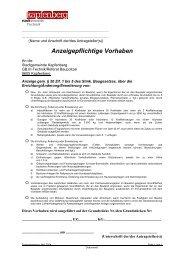 Anzeigepflichtige Vorhaben - Stadtgemeinde Kapfenberg