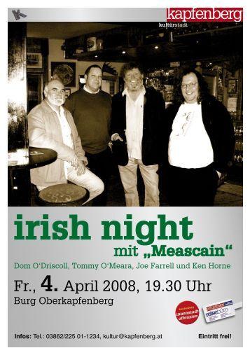 """""""Meascain"""" irish night"""
