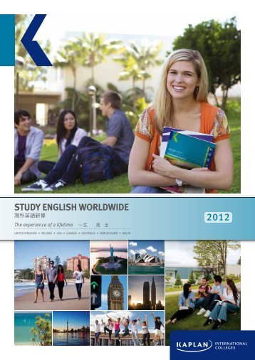STUDY ENGLISH WORLDWIDE - Kaplan International Colleges