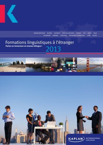Formations linguistiques à l'étranger nge - Kaplan International ...