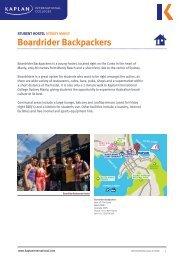 Boardrider Backpackers - Kaplan International Colleges
