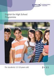 English for High School Programme - Kaplan International Colleges