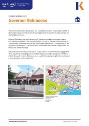 Governor Robinsons Backpackers - Kaplan International Colleges