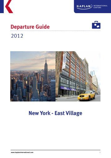 Departure Guide New York - East Village 2012 - Kaplan ...
