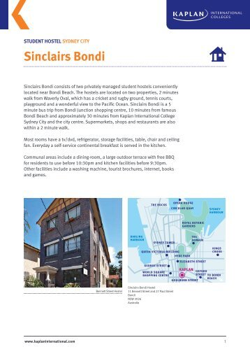 Sinclairs Bondi - Kaplan International Colleges