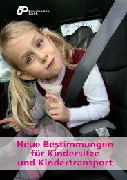Neue Bestimmungen für Kindersitze und Kindertransport