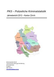 Jahresbericht 2012 (PDF, 4 MB) - Kantonspolizei Zürich