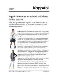 Download the pressrelease - KappAhl