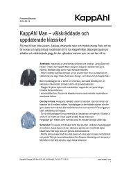 Ladda ner pressrelease - KappAhl