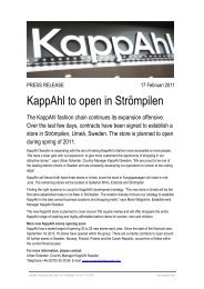 Download press release - KappAhl