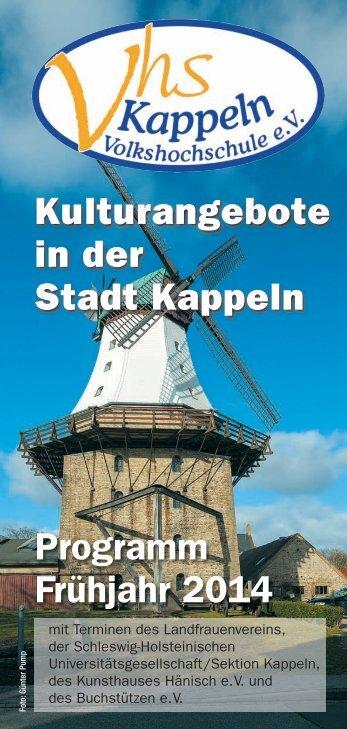 Kulturangebote in der Stadt Kappeln (pdf ca. 3.5 Mb)