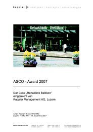 ASCO - Award 2007 - Kappler Management AG