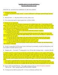 KAPRB ADULT COED SOFTBALL RULES UPDATED 3/21/07