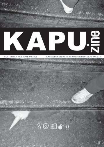 KAPUZINERSTRASSE 36 4020 LINZ KAPU.oR.AT SEPTEMBER ...