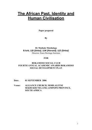 The African Past Bokamoso.pdf - Kara.co.za