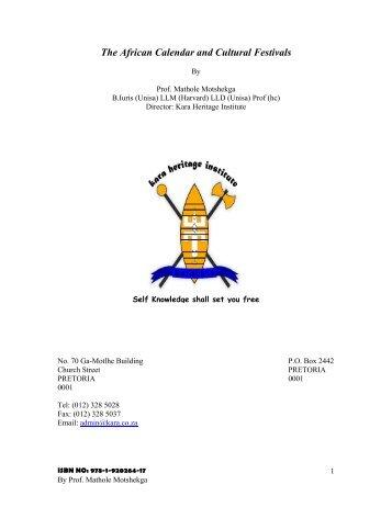 The African Calendar and Cultural Festivals.pdf - Kara.co.za