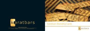 Karatbars Branding Cards