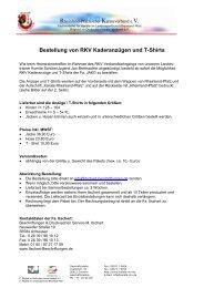 Bestellung von RKV Kaderanzügen und T-Shirts - BEIM ...