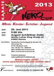 Neko Cup Ausschreibung 2013.pdf - Sportdata.org