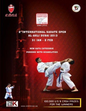 the Bulletin of the 2nd international karate open al ... - Sportdata.org