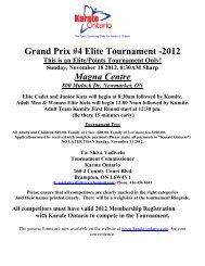 Grand Prix #4 Elite Tournament -2012 Magna Centre