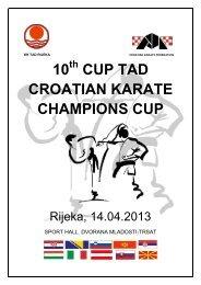 10 CUP TAD CROATIAN KARATE CHAMPIONS CUP - Sportdata.org