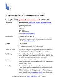 38. Zürcher kantonale Karatemeisterschaft 2013 - Sportdata.org