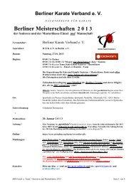 ist die Ausschreibung - Berliner Karate Verband eV