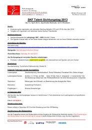 SKF Talent Sichtungstag 2013