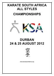 karate south africa all styles championships durban 24 & 25 august ...