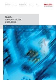 Bosch Rexroth Raktári Termékválaszték - Karb-Tech Kft.