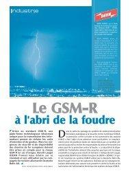 Le GSM-R à l'abri de la foudre - Dehn + Söhne Blitzschutzsysteme