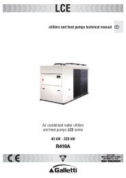 Air condensed water chillers and heat pumps LCE series 40 kW ...
