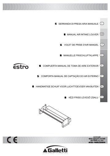 Scheda tecnica accessorio ESTRO S