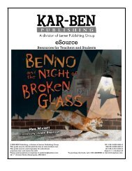 Benno and the Night of Broken Glass - Kar-Ben Publishing