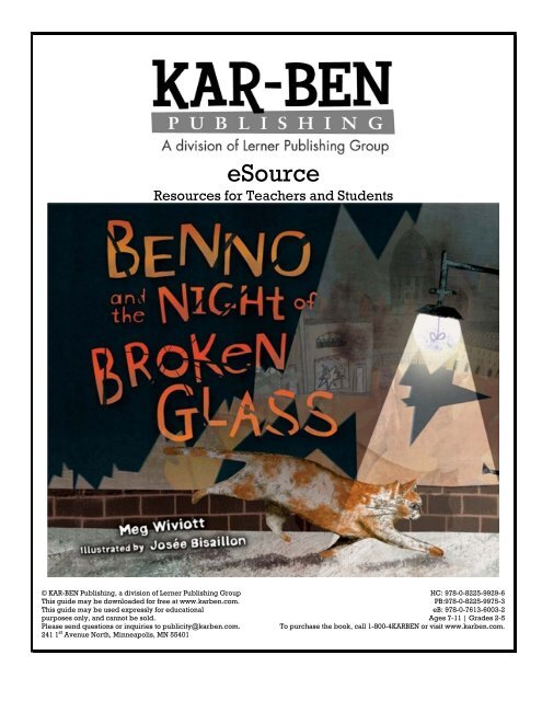 Benno and the Night of Broken Glass - Kar-Ben Publishing