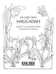 Preview this Haggadah. - Kar-Ben Publishing