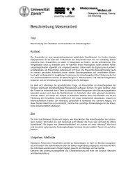 Beschreibung Masterarbeit - Karch