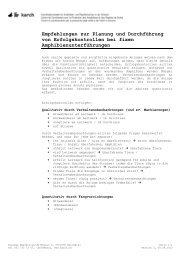 Empfehlung zur Planung und Durchführung von ... - karch