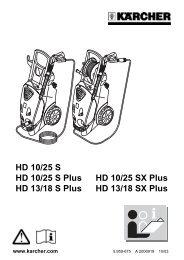 HD 10/25 S HD 10/25 S Plus HD 10/25 SX Plus HD 13/18 ... - Kärcher