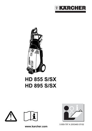 HD 855 S/SX HD 895 S/SX - Kärcher