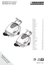 KM 85/50 WP Comfort KM 85/50 WP Classic - Alfred Kärcher Gmbh ...